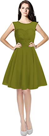 823458c664 Lily Anny Womens Short Tulle Chiffon Bridesmaid Dress Homecoming Gown L063LF