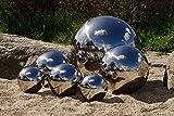 8er Set Köhko Dekokugeln in 4 unterschiedlichen Größen Glänzend polierte Edelstahlkugel...