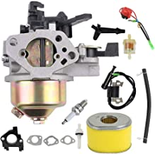 GX390 Carburetor Ignition Coil Air Filter Kit Replacement for Honda GX340 GX360 GX390 11HP 13HP Engine Generator Lawn Mower Motor Replaces 16100-ZF6-V01