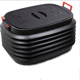 Shwk Baquet Polyvalent Noir 60 l,Plastique Boîte de Rangement Pliable et rétractable ,Cuve de Nettoyage Portable ,Pliable ...