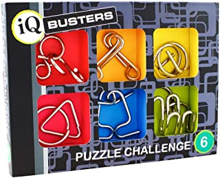 Cheatwell IQ Buster Puzzle Challenge 6 Metal Puzzles