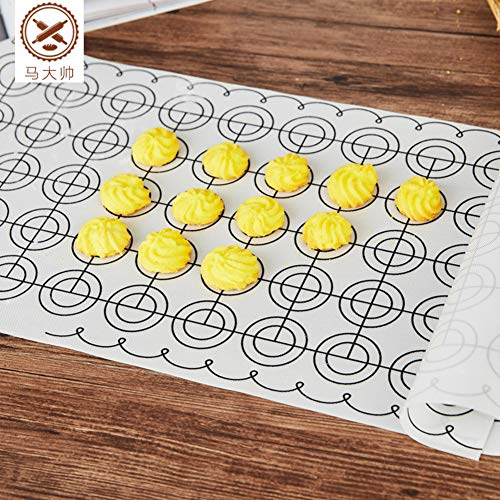ZXY Silicone Pastry mat, Large Countertop Protector Reusable Non-Stick Baking mat,with Measurements Heat Resistant Food Grade-A 60x26cm(24x10inch)