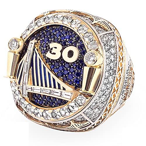 TYTY NBA 2018 Warriors Championship Ring Anillos de Hombre, Championship réplica Personalizado Diamantes para Hombres,with Box,10#