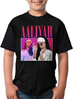 GOOANGUS Aaliyah Unisex Youth T-Shirt Boys Girls T-Shirt Black