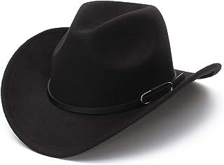 [Y-BOA] メンズ レディース テンガロンハット カウボーイハット ウエスタンハット フェドラハット 西部 ベルト飾り 旅行 帽子 演劇 ハット 男女兼用 おしゃれ 日よけ つば広