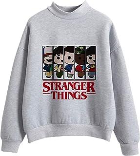 KIACIYA Sudadera Stranger Things Niña, Sudadera Stranger Things Temporada 3 Sudadera Stranger Things Sin Capucha Adolescen...