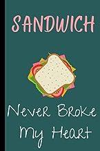 SANDWICH NEVER BROKE MY HEART: Cool sandwich notepad for Gift