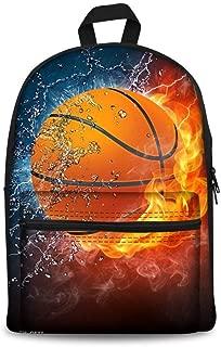 Fashionable Basketball Design Canvas Backpack Children School Bag for Boys Girls Back to School