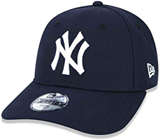 BONE JUVENIL 9FORTY ABA CURVA AJUSTAVEL MLB NEW YORK YANKEES ABA CURVA STRAPBACK MARINHO NEW ERA