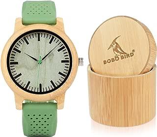 Reloj de madera de bambú BOBO BIRD W-B06