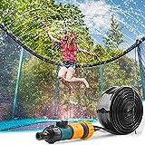 RBSFL Trampolin Sprinkler, das Beste Trampolin Spielzeug für Kinder im Sommer, Verdickter Trampolin Wassersprinkler kann im Trampolin Outdoor, Trampolin Kinder Perfekter Wasserspielzeug Garten, 12M