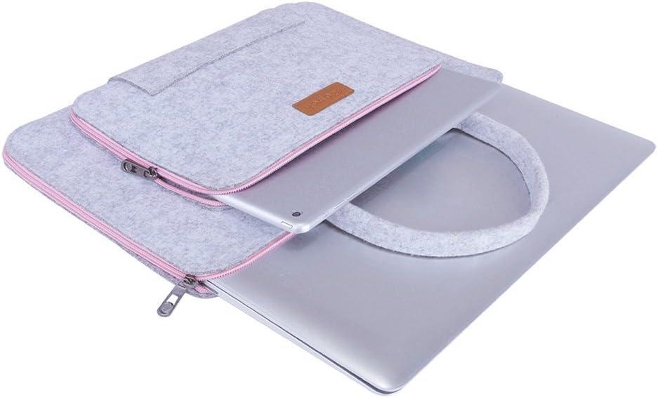 Ropch 15 15,6 Zoll Laptoptasche Marineblau und Cremewei/ß Filz Notebooktasche Aktentasche Laptoph/ülle Laptop Schutzh/ülle Notebook Sleeve H/ülle Tasche f/ür 15-15,6 Zoll Acer// Asus// Dell// HP// Lenovo