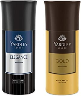 Yardley London Deodorant for Men Elegance and Gold Combo Pack of 2(150 ml)
