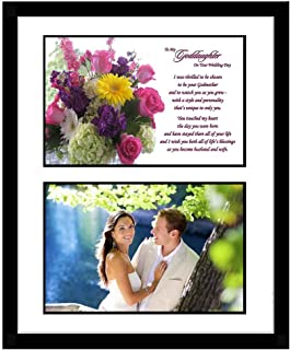 Poetry Gifts Goddaughter Wedding or Bridal Shower Gift from Godmother, Add Photo