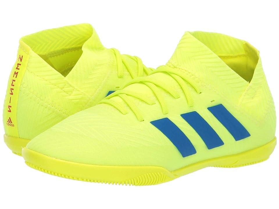 adidas Kids Nemeziz 18.3 IN Soccer (Little Kid/Big Kid) (Solar Yellow/Blue/Active Red) Kids Shoes