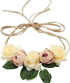 3e7cc48b33c Floral Fall Flowers Maternity Sash Woodland Wedding Crown Halo Romantic  Flowers Hair Wreath F-91