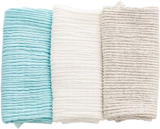 青空販売 0-4歳 ベビー 腹巻き 綿 3枚セット 春夏単層 秋冬二重 (単層:ブルー&ホワイト&グレー)