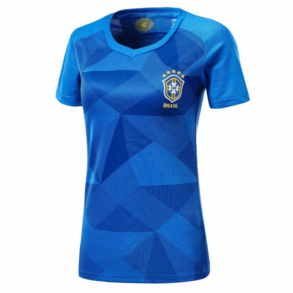 DLpf 2018 Femenino, Argentina, Alemania, España, Brasil, Francia, México, Fans del Fútbol Local, Fútbol, M, Brasil, Camiseta visitante: Amazon.es: Hogar