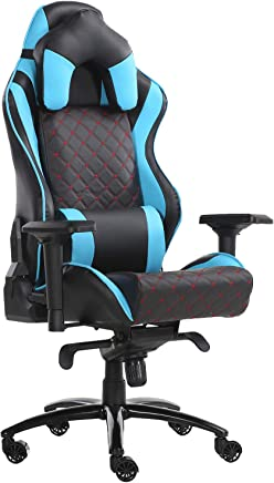 Racoor Video Gaming Chair, Black and Red - 122H x 68W x 63D cm