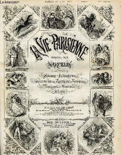 LA VIE PARISIENNE 14e année - N° 26 - DEPARTS, de A. - SKATING-REVUE, de ABR.