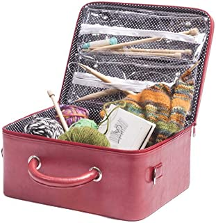 G.U.S. Knitting Organizing Case - Organize Knitting Notions, Supplies, And Needles With Internal Zippered See-Through Storage Compartments