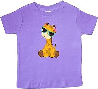 Giraffe with Blue Sunglasses, Cute Giraffe Baby T-Shirt