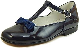 5fb00034672 De Osu - Girls  Navy Blue Patent European Dress T-Straps K-4882