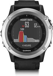 Garmin Fenix 3 HR - Reloj Multideporte con GPS y sensores ABC, con pulsómetro en la muñeca, Color Plata/Correa Negra, Talla única (Reacondicionado)