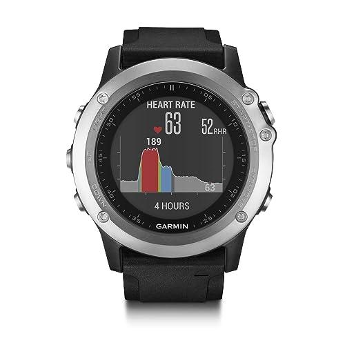 Garmin Fenix 3 HR - Reloj multideporte con GPS y sensores ABC, con pulsómetro en