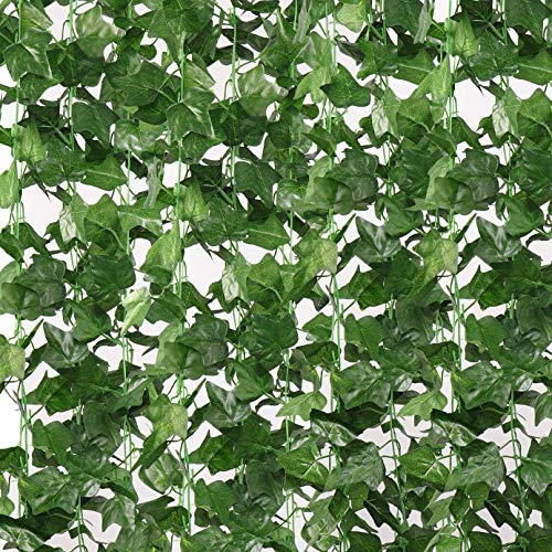 10 Pack 80 Ft Fake Ivy,Artificial Ivy Vines for Bedroom Aesthetic UV Resistant Fake Vines Plants Hanging Room Decorations for Christmas Wedding Engagement Party Garden Wall Office Indoor Outdoor