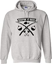 Keepin It Reel Fishing Pole Cross Black Logo Fishing Hoodie