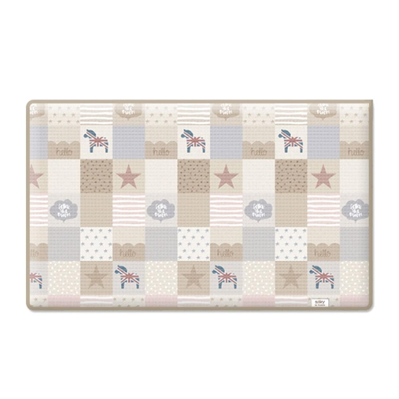 Parklon Patch Work Baby Playmat ベビージム プレイマット [海外並行輸入品] (XL (270*140*1.6CM))