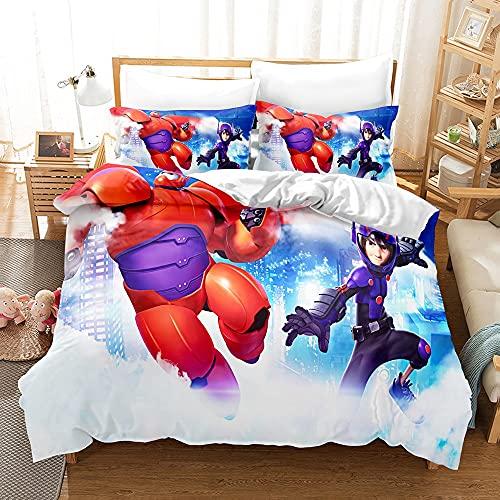 yijia0213 2/3 Piezas de Funda de edredón Impresas en el Juego de Ropa de Cama de Anime japonés, Usado en el Dormitorio, Cubierta de la Cama de Textiles para el hogar Cubierta de edredón