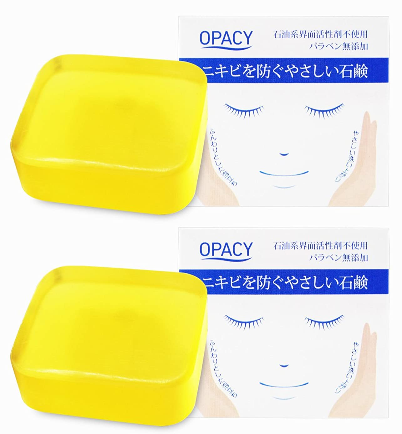 誇張スリルインフレーション【2個セット】オパシー石鹸100g (2個)