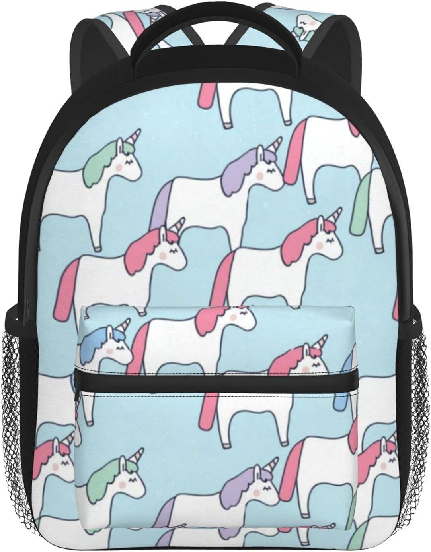 KUMMTOOON Cute Luxury goods Unicorns Blue OFFicial School Tod Kids Girls for Backpacks