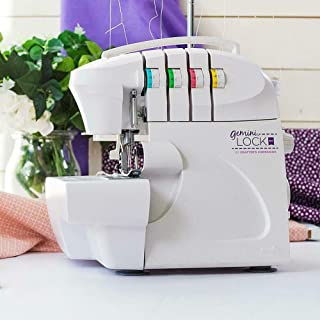 Crafter's Companion Gemini Lock Pro Serger, Color-Coded Threading Guide, Dial Stitch Length, Presser Foot Pressure Adjustment