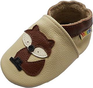 Yalion Zapatos de Bebé Zapatos de Cuero Suave para bebés Niña Niños Pantuflas de Estar por Casa Pantuflas Calzado Botitas ...