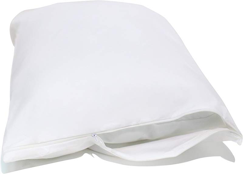 Allersoft Standard 2 Pack Allergy And Bed Bug Proof Pillow Cover White
