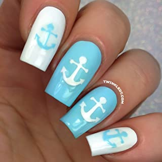 Anchor Nail Vinyls by Twinkled T - 1 Sheet of 24 Stencils and 24 Decals
