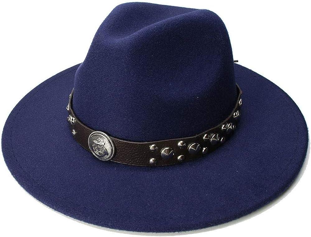 L.W.SUSL Special Felt Hat Men Fedora Hats with Belt Women Vintage Trilby Caps Jazz Hat