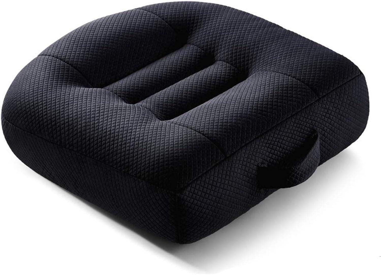 Seat Cushion Car Seat Cushion,Portable Breathable Mesh Height Boost Comfortable Pad ForOffice,Home,40X40x12cm,Black Chair Pad