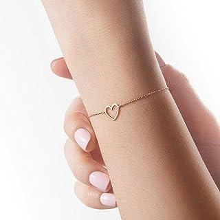 TseenYi Eenvoudige Holle Liefde Armband Handketting Armband Elegante Bruids Armband Handpiece Sieraden voor Vrouwen en Mei...