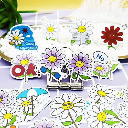 JUNZE Etiquetas engomadas Lindas de la Flor Pegatinas de la Cuenta de la Mano de los niños papelería decoración del refrigerador del teléfono móvil 40 Piezas