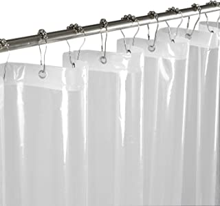 Mrs Awesome Clear Shower Curtain or Liner PEVA, Waterproof, Odorless and PVC-Free,72 x 72 inches
