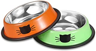 Stainless Steel Cat Bowls, Pet Food Bowls (Pack of 2), Handy Picks