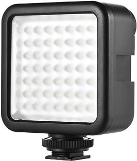 Andoer W49 Mini Interlock Camera LED Panel Light Dimmable Video Lighting for DSLR