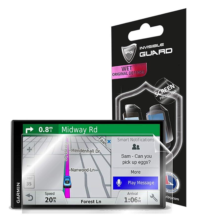 マーチャンダイザーサイトラインフロントIPG Garmin DriveSmart 61 NA LMT-S GPSナビゲーター 6.95インチディスプレイ画面プロテクター 透明ウルトラHDクリアフィルム 傷防止スキンガード - スムース/自己修復/バブルフリー