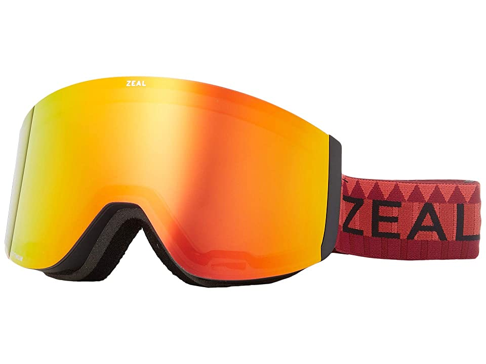 Zeal Optics Hatchet (Red Rocks w/ Phoenix Mirror + Sky Blue Mirror) Snow Goggles