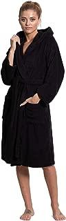 Women's Turkish Cotton Hooded Robe, Terry Hooded Bathrobe