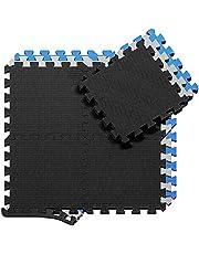 Beschermende Vloermatten Zachte Foam Tegels in Elkaar Grijpende Schuimmatten - 18 Stuks EVA Schuim Puzzelmatten | Vloermat Bescherming, Puzzel Sportmatten Set Vloerbeschermingsmatten Beschermmat Sport